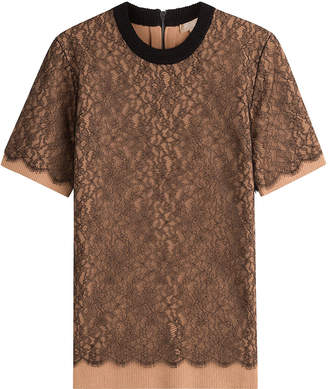 Michael Kors Cashmere Top with Lace