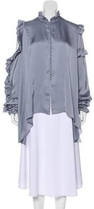 Magda Butrym Oversize Silk Blouse