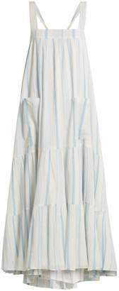 Apiece Apart Tiered halter-neck cotton dress
