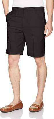 b8bc124777 Haggar Men's Cool 18 Pro Straight Fit Stretch Check Flat Front Short