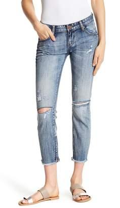 One Teaspoon Freebirds Distressed Cropped Jeans