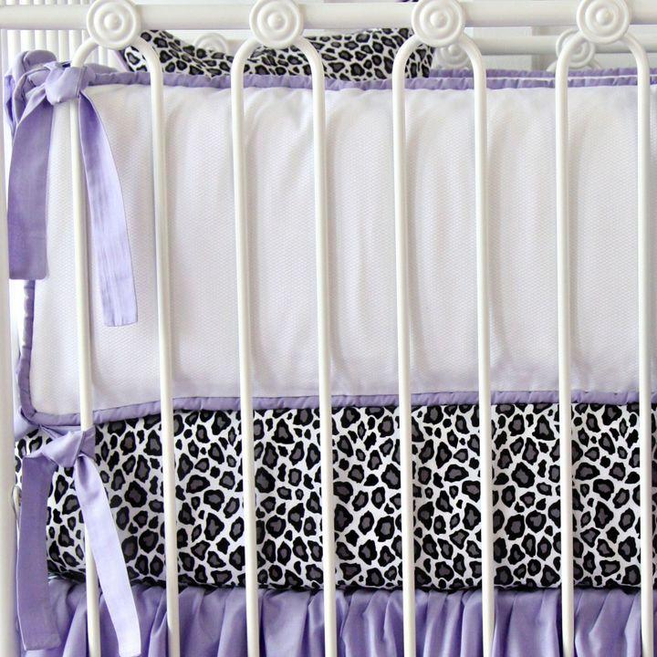 Caden LaneCaden Lane® Girly Purple Leopard Crib Bumper
