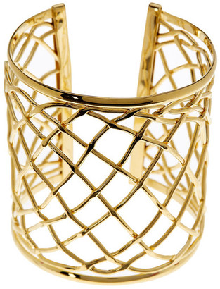 Argento Vivo 18K Gold Plated Cutout Cuff $95 thestylecure.com