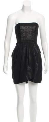 Alice + Olivia Metallic Strapless Dress
