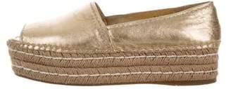 Prada Peep-Toe Flatform Espadrilles