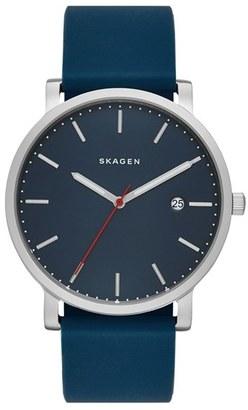Skagen Hagen Round Silicone Strap Watch, 40Mm $135 thestylecure.com