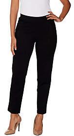 Halston H by Petite Slim Leg Ultra Knit Pull-OnAnkle Pants
