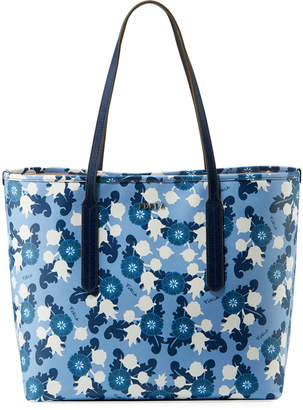 Furla Ariana Medium Floral-Print Leather Tote Bag