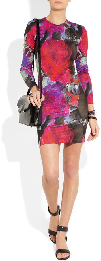 Christopher Kane Floral-print stretch-jersey mini dress