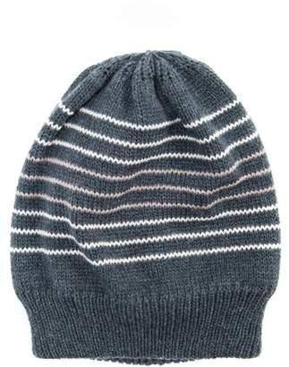 "Muk Luks Men's Stripe Knit Beanie 9"" x 9"""