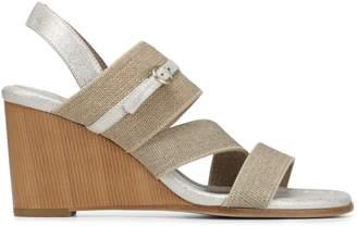 Donald J Pliner LEIGH, Linen Elastic Wedge Sandal