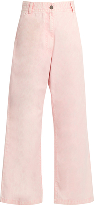 RACHEL COMEY Bishop high-rise wide-leg cotton trousers $345 thestylecure.com