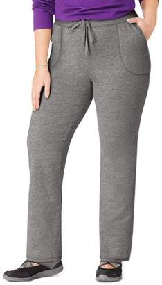 Just My Size Women's Plus-Size French Terry Pocket Pant