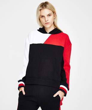 Tommy Jeans Th Ath Bekki Clr Block Hoodie Black