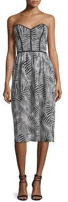 Parker Azalea Sweetheart-Neck Strapless Dress, Black/White $398 thestylecure.com
