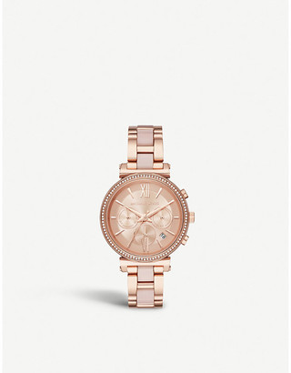 c113ca302e11 Michael Kors MK6560 Sofie rose gold-plated stainless steel chronograph watch