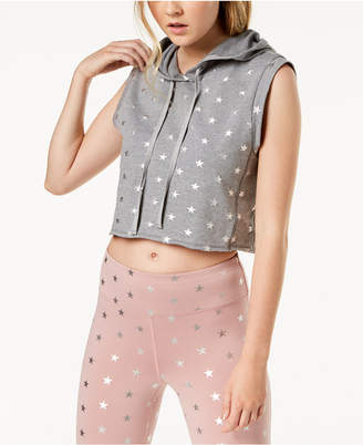 Material Girl Active Juniors' Star-Print Muscle Hoodie