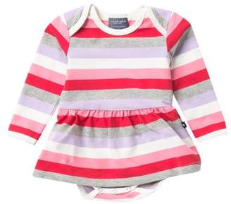 Toobydoo Aaliyah Striped Ballerina Bodysuit Dress (Baby Girls)