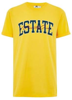 Topman Mens Yellow 'Estate' T-Shirt