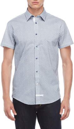 English Laundry Geo Medallion Short Sleeve Shirt
