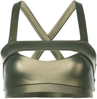 Cushnie Georgiana metallic bra top