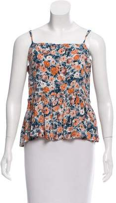 Current/Elliott Floral Print Sleeveless Top