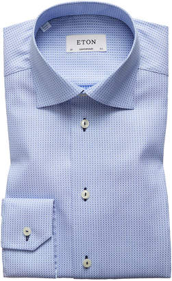 Eton Textured Solid Dress Shirt