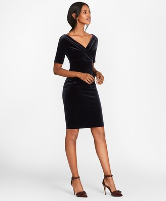 Brooks Brothers Velvet Sheath Dress