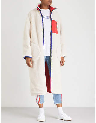 Sjyp Reversible shearling-lined shell coat