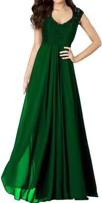 Lily Anny Womens Long Lace Chiffon Jewel Bridesmaid Dress Prom Gown L278LF US