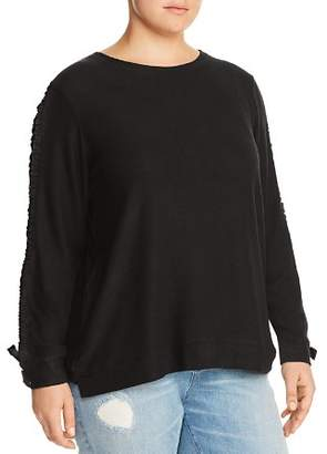 Andrew Marc Plus Cinched-Sleeve Top