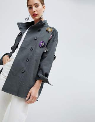 Custom Made Custommade Military Jacket with Embellishment