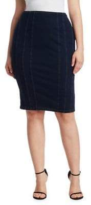 Marina Rinaldi Ashley Graham x Canada Jersey Denim Pencil Skirt
