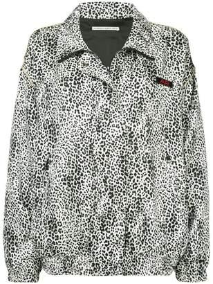 Alessandra Rich leopard print bomber jacket
