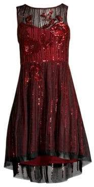 Parker Black Abba Sequin High-Low Dress