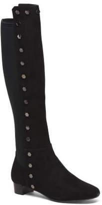 Elastic Back Knee High Boots