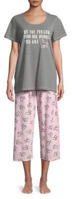 Hue Plus Dog Believes Capri Pajamas