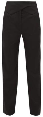 BLAZÉ MILANO Davos Waist Panel Wool Twill Trousers - Womens - Black
