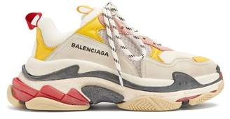 Balenciaga Triple S Low Top Trainers - Womens - White Multi