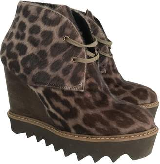 Stella McCartney Stella Mc Cartney Brown Cloth Ankle boots