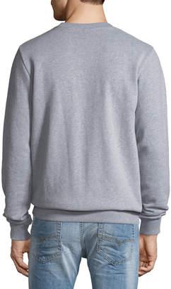 Knowledge Cotton Apparel Men's Owl Logo Fleece Sweatshirt