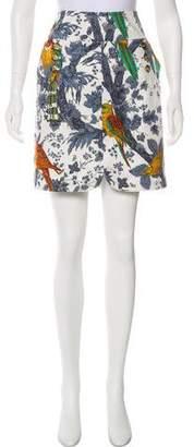 Leifsdottir Bird Floral Print Mini Skirt