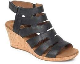 Rockport Briah Leather Wedge Sandals
