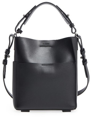 Allsaints Mini Echo Calfskin North/south Tote - Black $278 thestylecure.com
