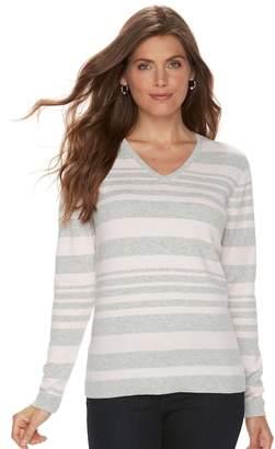 Croft & Barrow Petite V-Neck Sweater