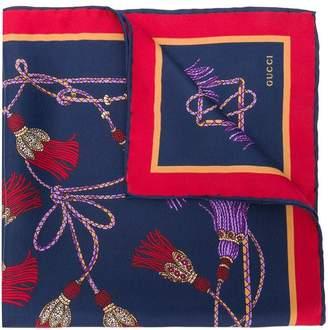 Gucci tassel print foulard