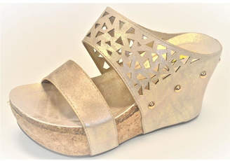 Very Volatile Gold Wedge Sandal