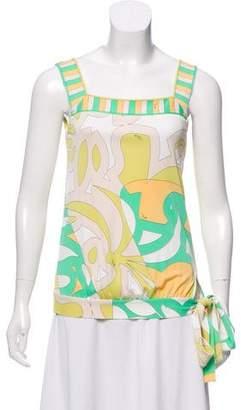 Emilio Pucci Printed Sleeveless Top