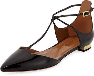 Aquazzura Scarlet Patent Leather Ballet Flats