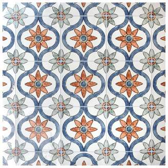 EliteTile Avaricon 7.875 x 7.875 Ceramic Field Tile in Blue/Green/Orange